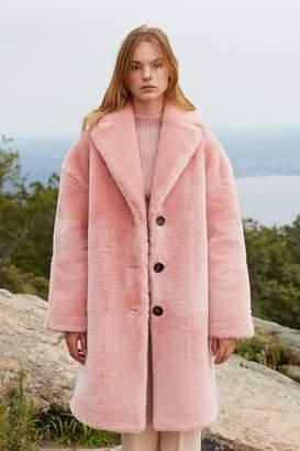 Mansur Gavriel Shearling Classic Coat - Blush