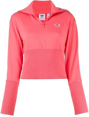 adidas Zipped Cotton Sweatshirt