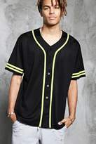 21men 21 MEN Perforated Knit Baseball Jersey
