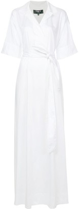 Paule Ka Long Woven Wrap Dress