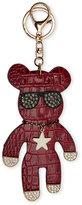 Natasha Red Croc-Embossed Bear Bag Charm/Keychain