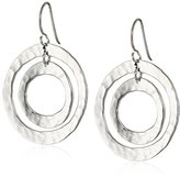 Zina Sterling Silver Ripple Ring Earrings