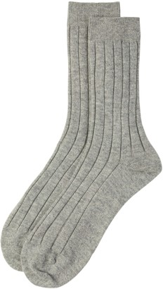 Johnstons of Elgin Silver Mens Cashmere Socks