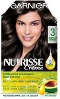 Garnier Nutrisse 3 Darkest Brown Permanent Hair Dye