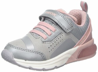 Geox J SPACECLUB GIRL C Light-up Sneakers Pink (Fuchsia/Violet C8370) 13 UK
