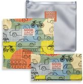SugarBooger by o.r.e Good Lunch Set of 3 Snack Sack in Road Trip