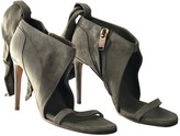 Rick Owens Khaki Leather Sandals