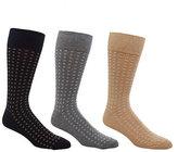Cole Haan Circle Dot Neat Mid-Calf Dress Socks 3-Pack