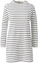 Classic Women's Plus Size Starfish Textured Tunic Top-Ivory Stripe