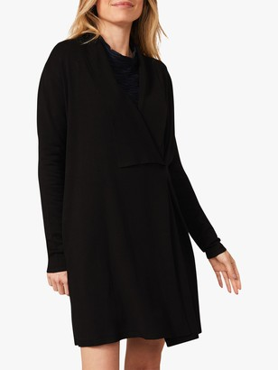 Phase Eight Haisley Drape Over Cardigan, Black