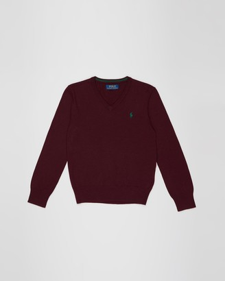 Polo Ralph Lauren Cotton V-Neck Sweater - Teens