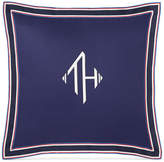 "Tommy Hilfiger Monogram Grosgrain Flange 18"" Square Decorative Pillow Bedding"