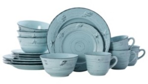 Pfaltzgraff trellis coastal 16 pc dinnerware set, service for 4