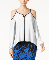 Thalia Sodi Cold-Shoulder Hardware Top, Created for Macy's