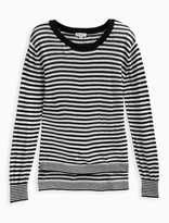 Splendid Girl Stripe Loose Knit Sweater