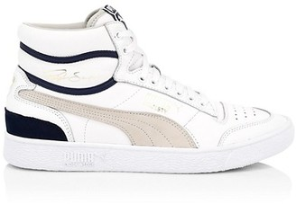 Puma Men's Ralph Sampson Leather Mid-Top Sneakers