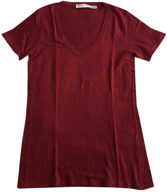 Etoile Isabel Marant Red Linen Tops