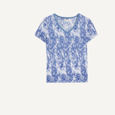Maje Printed T-shirt with lurex detailing
