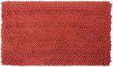 Laura Ashley Astor Striped Plush Chenille Bath Rug Collection