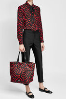 RED Valentino Printed Tote with Leather