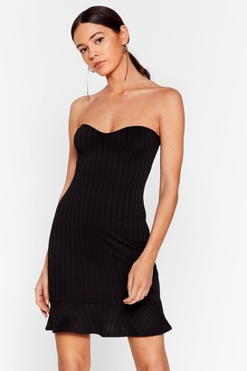 Nasty Gal Womens Frill Out Bandeau Mini Dress - black - 6