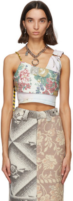 Rave Review Pink Duvet Floral Sheet Tank Top