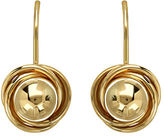 Lord & Taylor 14K Yellow Gold Polished Ball With Lever back Earrings