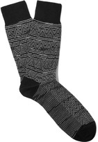 Missoni Jacquard-Knit Wool and Cotton-Blend Socks