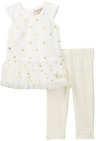 Juicy Couture Heart Foil Printed Tunic & Glitter Legging Set (Baby Girls 12-24M)