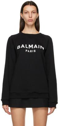 Balmain Black and White Logo Sweatshirt