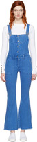 Sjyp Blue Denim Boot Cut Overalls