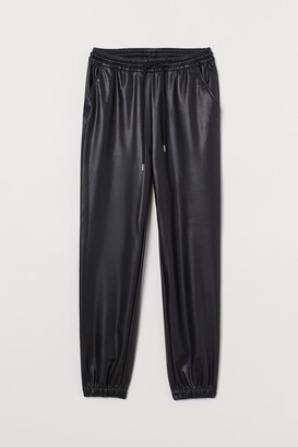 H&M Faux Leather Joggers