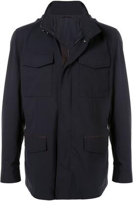 Ermenegildo Zegna Multi-Pocket High Collar Jacket