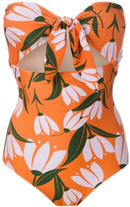 Adriana Degreas Printed Tie Knot Swimsuit