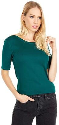 J.Crew Slim Perfect T-Shirt (Dark Spruce) Women's Clothing