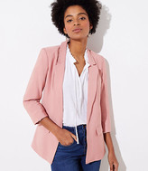 LOFT Tall 3/4 Sleeve Open Blazer