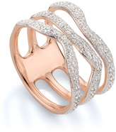 Monica Vinader Riva Diamond Wave Triple Ring