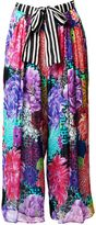 Matthew Williamson Miyazaki Mirage Silk Palazzo Crop Trousers