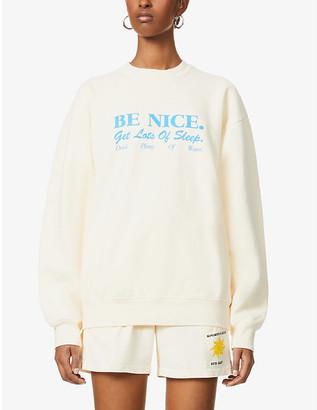 Sporty & Rich Text-print cotton-jersey sweatshirt