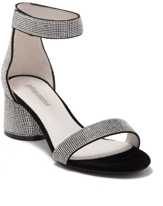 Jeffrey Campbell Kenneth Crystal Embellished Ankle Strap Sandal