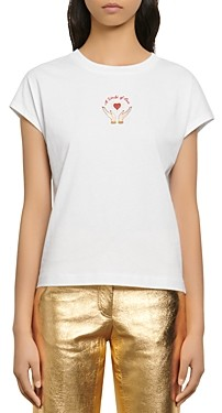 Sandro Hear Embroidered T-Shirt