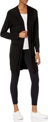 Andrew Marc Knit Duster Cardigan With Pockets