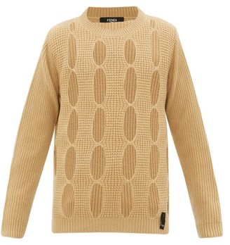 Fendi Cut-out Cashmere Sweater - Mens - Yellow