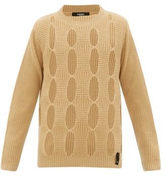 Fendi Cut-out Cashmere Sweater - Yellow