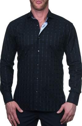Maceoo Einstein Regular Fit Jail Blue Button-Up Shirt