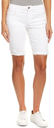 Joe's Jeans Women's Finn White Cut Off Bermuda Jean Short