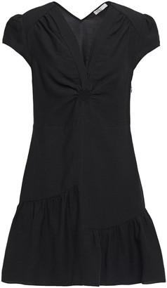 Sandro Ronald Ruffled Twill Mini Dress