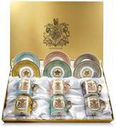 Harrods Royal Collection Trust Lustre Coffee Cups and Saucers (Set of 6)