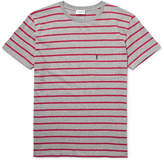 Saint Laurent Slim-Fit Striped Cotton-Jersey T-Shirt