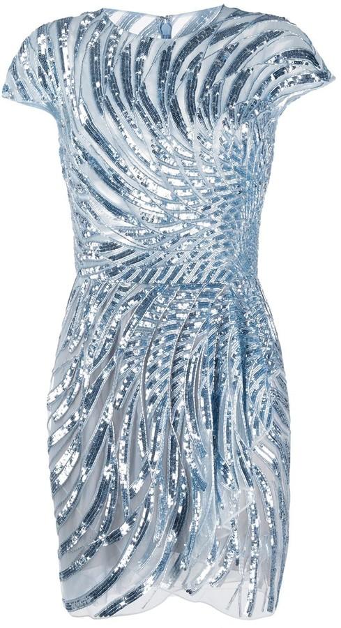 ZUHAIR MURAD Sequin Embellished Dress